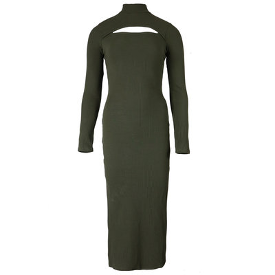 JAIMY Aiko cut out dress army green