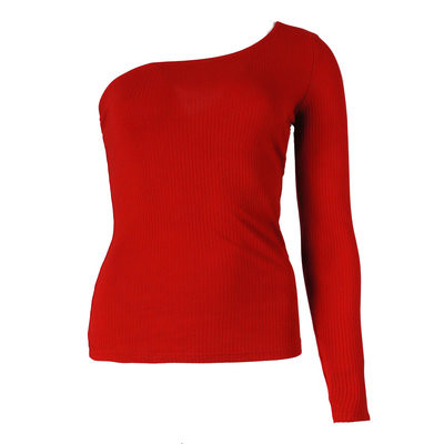 JAIMY Ally one shoulder top red
