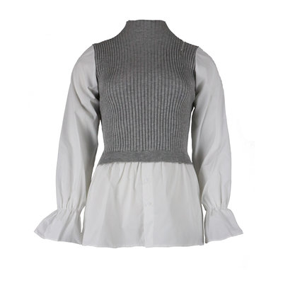 JAIMY Spencer blouse top grey