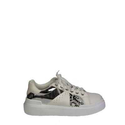 JAIMY Shine snake sneaker zilver