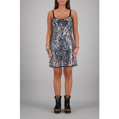 REINDERS Dress sequins silver