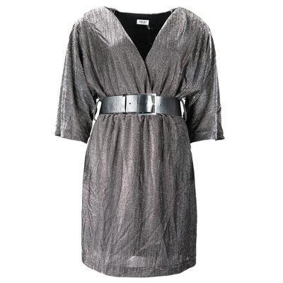 LIU JO Grigio lurex dress