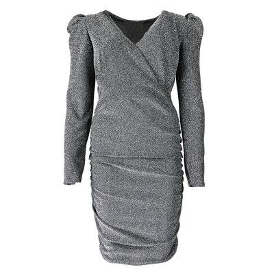 JAIMY Laurel sparkle dress zilver