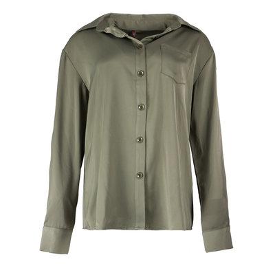 JAIMY Silk blouse green