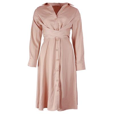 JAIMY Silk blouse dress bpink