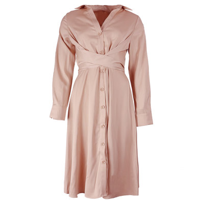 JAIMY Silk blouse dress pink