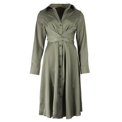 JAIMY Silk blouse dress green