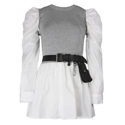 JAIMY Freya blouse spencer included belt grey
