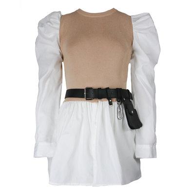 JAIMY Freya blouse spencer included belt beige