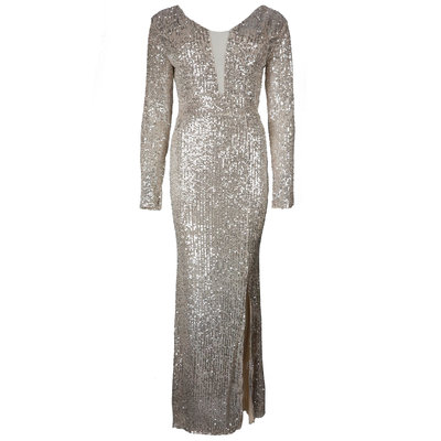 JAIMY Sequin maxi dress gold