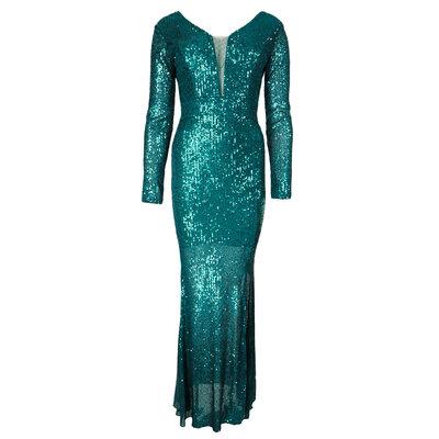 JAIMY Sequin maxi dress petrol