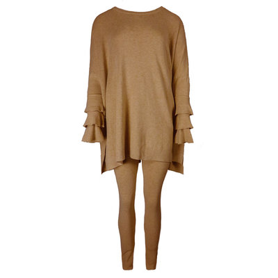 JAIMY Novalie 2-piece lounge wear set camel