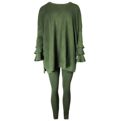 JAIMY Novalie 2-piece lounge wear set army green