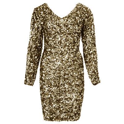 JAIMY Jessy sequin dress gold
