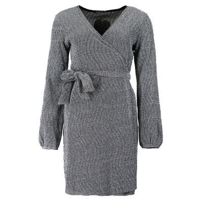 JAIMY Sparkle wrap dress zilver