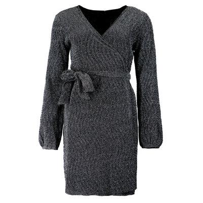 JAIMY Sparkle wrap dress black