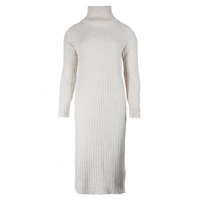 JAIMY Knitted col dress creme