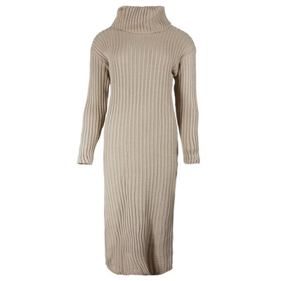 JAIMY Knitted col dress beige