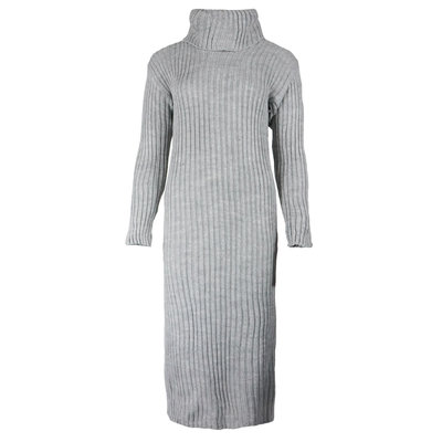 JAIMY Knitted col dress grey