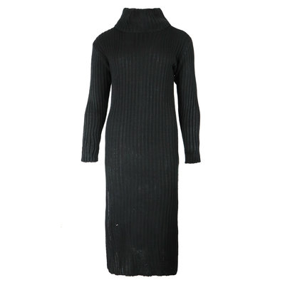 JAIMY Knitted col dress black