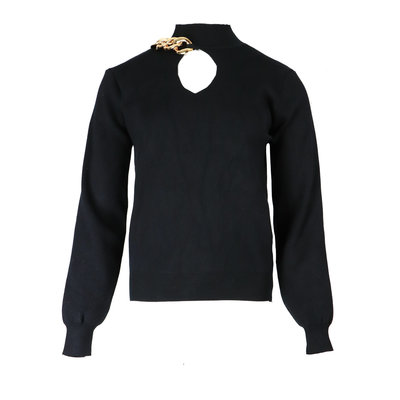 JAIMY Chain detail sweater black