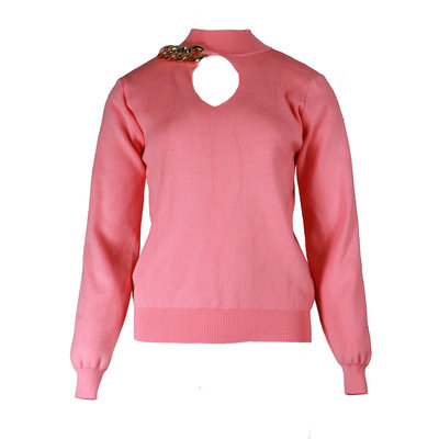 JAIMY Chain detail sweater pink