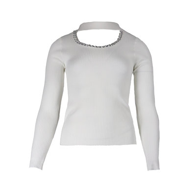 JAIMY Cut out zilver chain top white