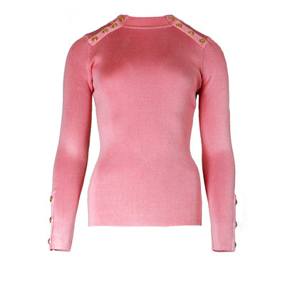 JAIMY Gold buttons top pink