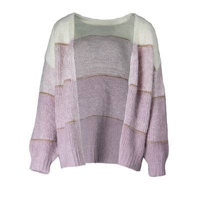 JAIMY Layered cardigan lilac