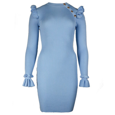 JAIMY Julie ruffle dress blue