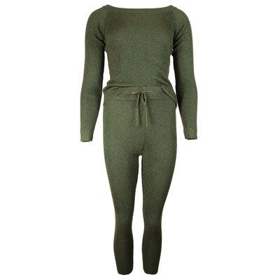 JAIMY Sparkle comfy set army green