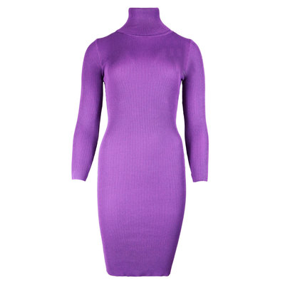 JAIMY Tessa bodycon col dress purple