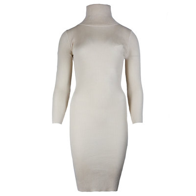 JAIMY Tessa bodycon col dress beige