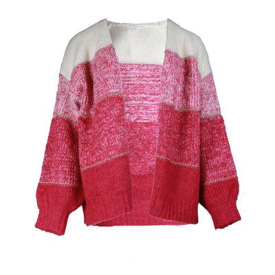 JAIMY Layered cardigan hot pink