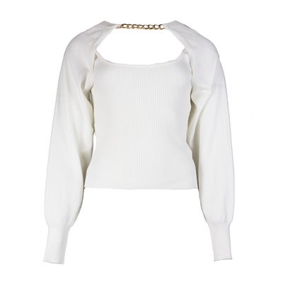 JAIMY More ways chain trend top white