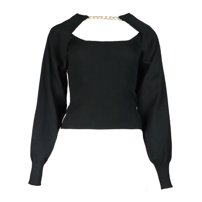 JAIMY More ways chain trend top black