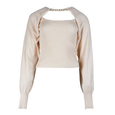 JAIMY More ways chain trend top beige