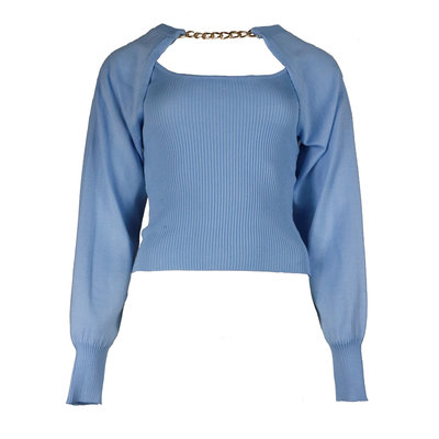 JAIMY More ways chain trend top light blue
