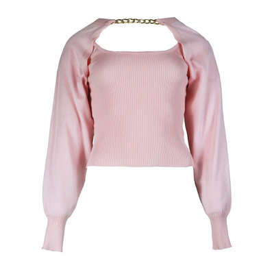 JAIMY More ways chain trend top light pink