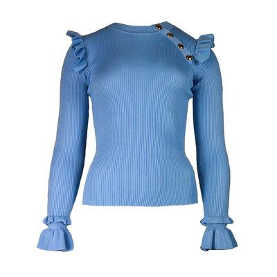 JAIMY Julie ruffle top light blue
