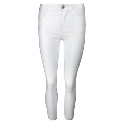 JAIMY All time leather look pants white
