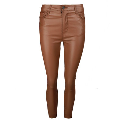 JAIMY All time leather look pants camel