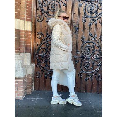 JAIMY Maxime Faux fur bodywarmer crème