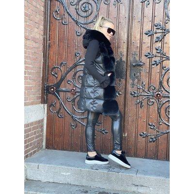 JAIMY Maxime Faux fur bodywarmer black