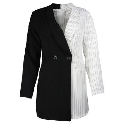 JAIMY Trendy half-half blazer white