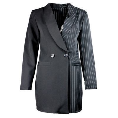 JAIMY Trendy half-half blazer black