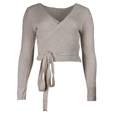 JAIMY Musthave wrap top beige