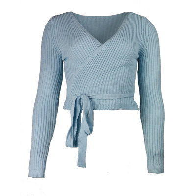 JAIMY Musthave wrap top light blue