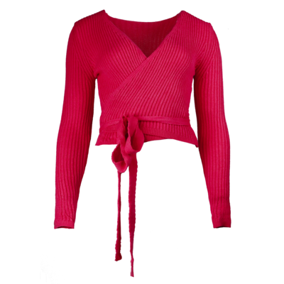 JAIMY Musthave wrap top fuschsia