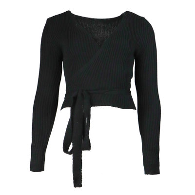 JAIMY Musthave wrap top black